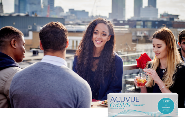 ACUVUE® Brand Ambassador Katarina Johnson-Thompson relaxes with friends
